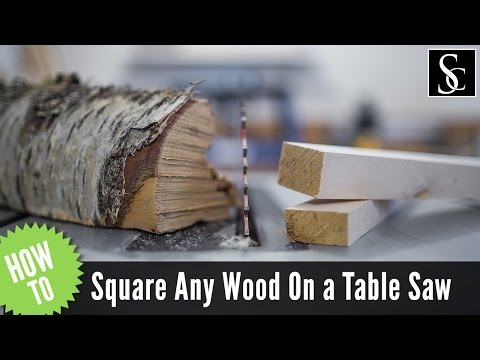 How to square any piece of wood using only a table saw and a straight board