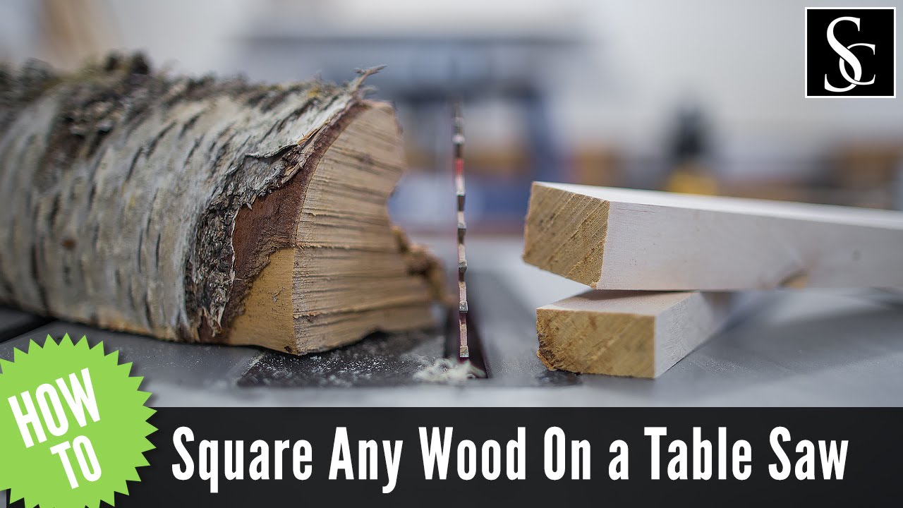 How To Square Any Piece Of Wood Using Only A Table Saw And