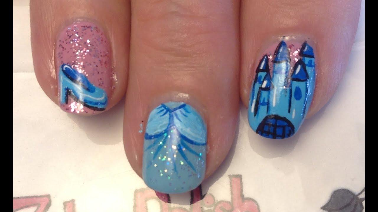 Cinderella Nail Art Tutorial Request Youtube