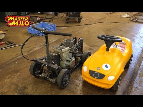 Chainsaw powered toy car