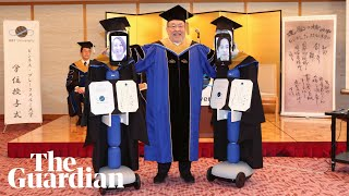 Robots replace students at Japan graduation ceremony amid Covid-19 outbreak
