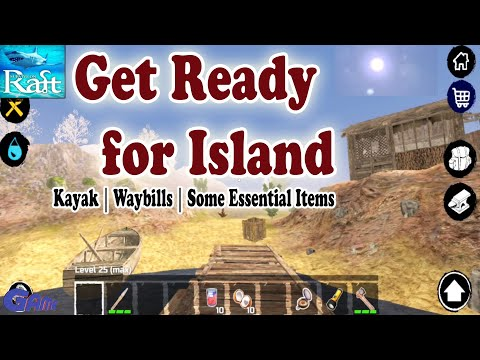 Let's build Kayak for Island – Survival and Craft: Crafting In The Ocean game