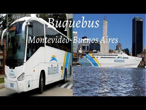 Montevidéu (MVD) x (BUE) Buenos Aires 🚌🚢 Buquebus