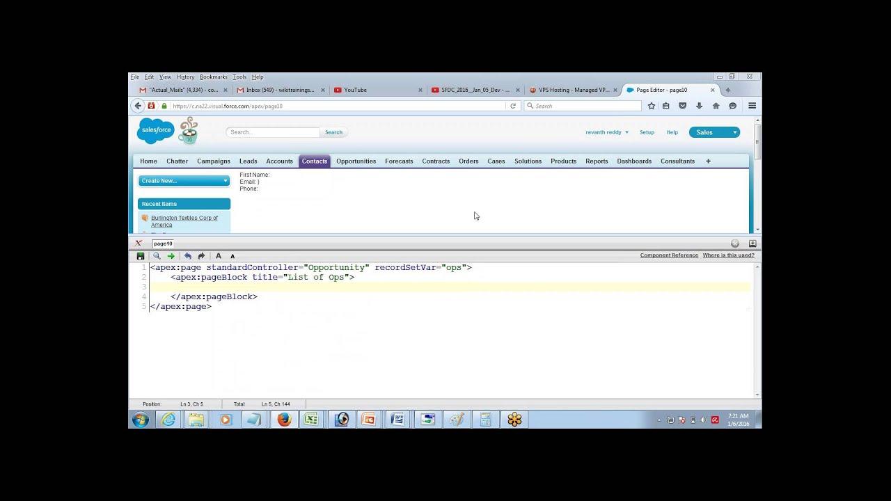 Displaying List of Recirds using Apex & Visualforce | Apex Classes in  salesforce by Jeet Singh