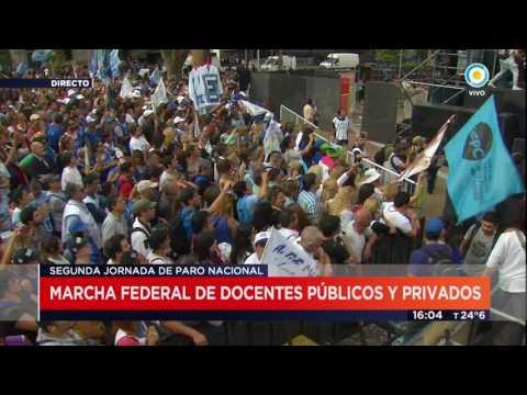 TV Pública Noticias - Cierre Marcha Federal Docente a Plaza de Mayo