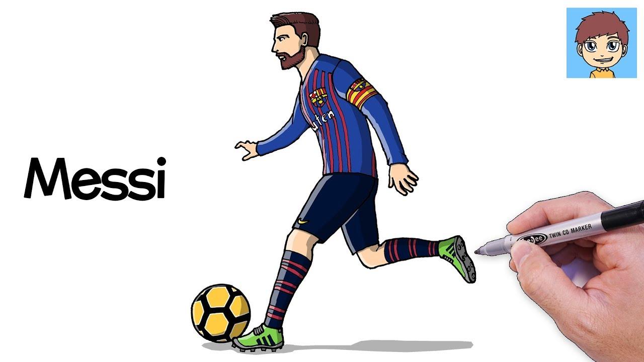 Comment Dessiner Messi Facilement Dessin Facile A Faire Dessin Lionel Messi Youtube
