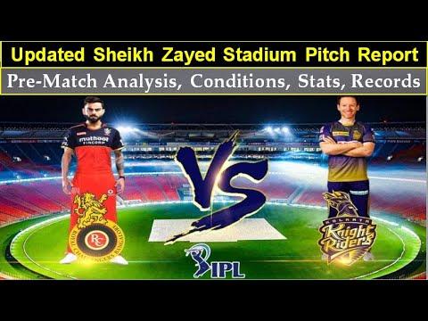 Updated Sheikh Zayed Stadium Pitch Report, Kolkata vs Bangalore, 31st Match, Pre-match analysis.