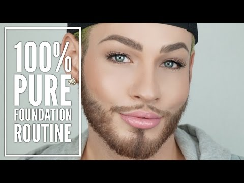100% Pure Foundation Routine | FakeFace