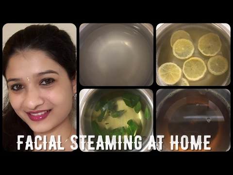 #6 Beauty tips - Facial Steam cleansing / Facial steaming at home in Hindi with English subtitles