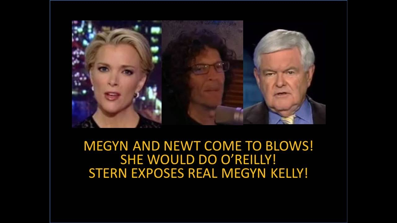 Megyn Kelly And Newt Come To Blows! Howard Stern Exposes Real Megyn! She  Would Do O'Reilly! - YouTube