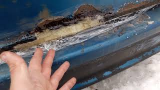 Как убрать дырку в кузове без сварки!