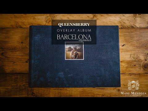 "Queensberry Albums - Overlay Wedding Album (14x10"" Contemporary Leather)"