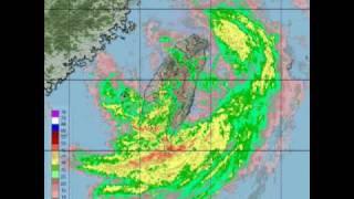 侵襲台灣之莫拉克MORAKOT颱風雷達回波圖影片-20090806-0810