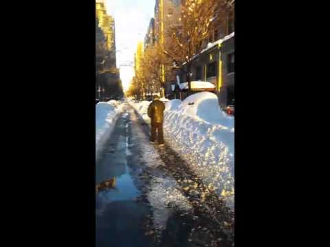 NYC after Jonas Blizzard (raw video) - @OpieRadio