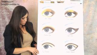 видео Правильное нанесение макияжа на глаза