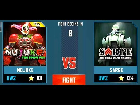 REAL STEEL WRB No Joke VS Sarge New Robots UPDATE (Живая сталь)