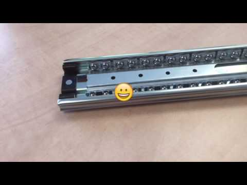 Accuride heavy duty drawer slide 7957 - Disconnect feature