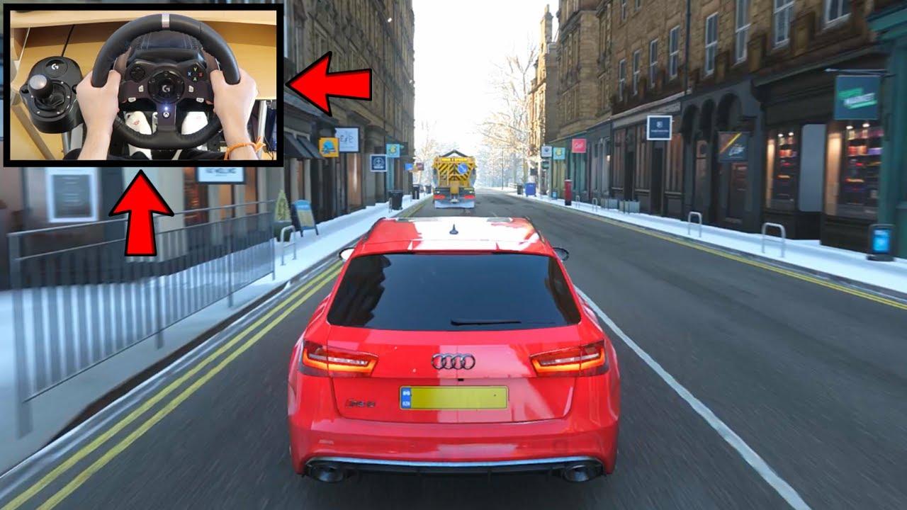 2a08ace8cb9 Forza Horizon 4 Audi RS6 Avant (Logitech G920 Steering Wheel) Winter  Gameplay Xbox One X