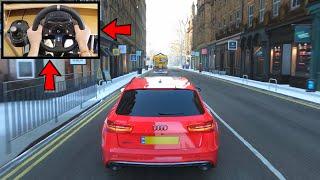 Forza Horizon 4 Audi RS6 Avant (Logitech G920 Steering Wheel) Winter Gameplay Xbox One X