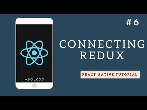 React Native Tutorial - Part 6 - Connecting Redux to our App - Arabic (بالعربي)