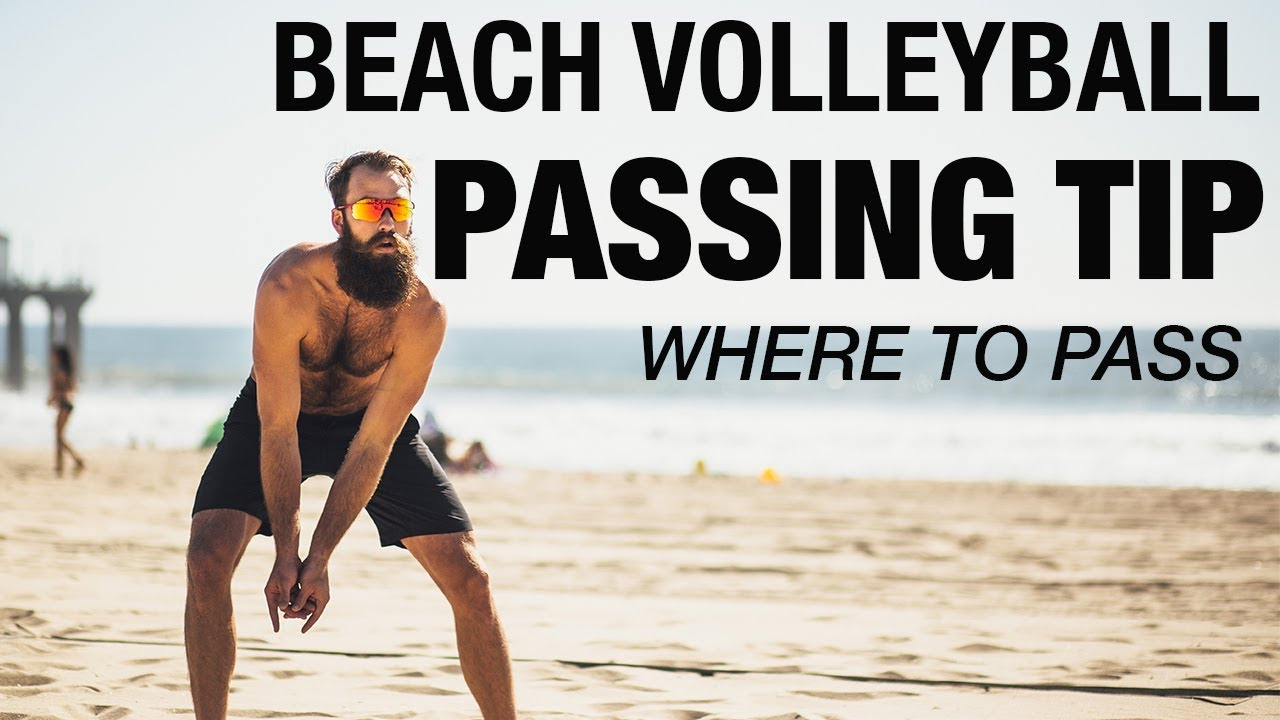 Beach Volleyball Passing Tip - Where To Pass