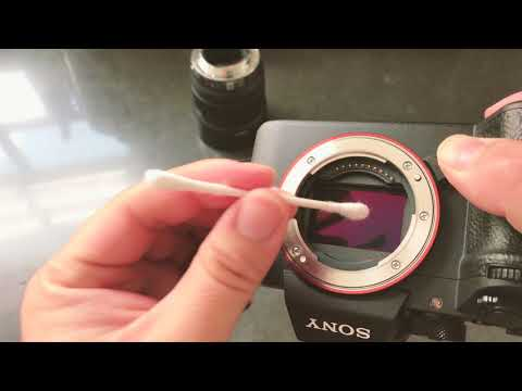 How to clean image sensor on Sony A7R III A7 III using cotton swabs.