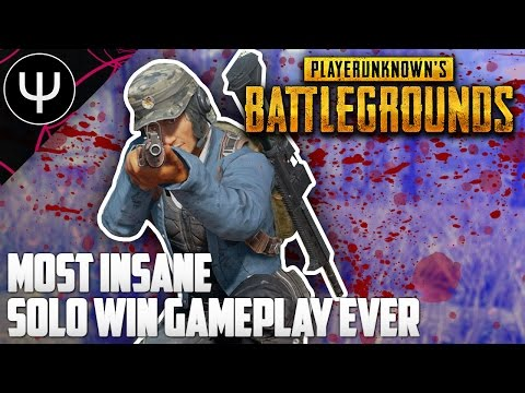 PLAYERUNKNOWN'S BATTLEGROUNDS — Most Insane Solo WIN Gameplay EVER!