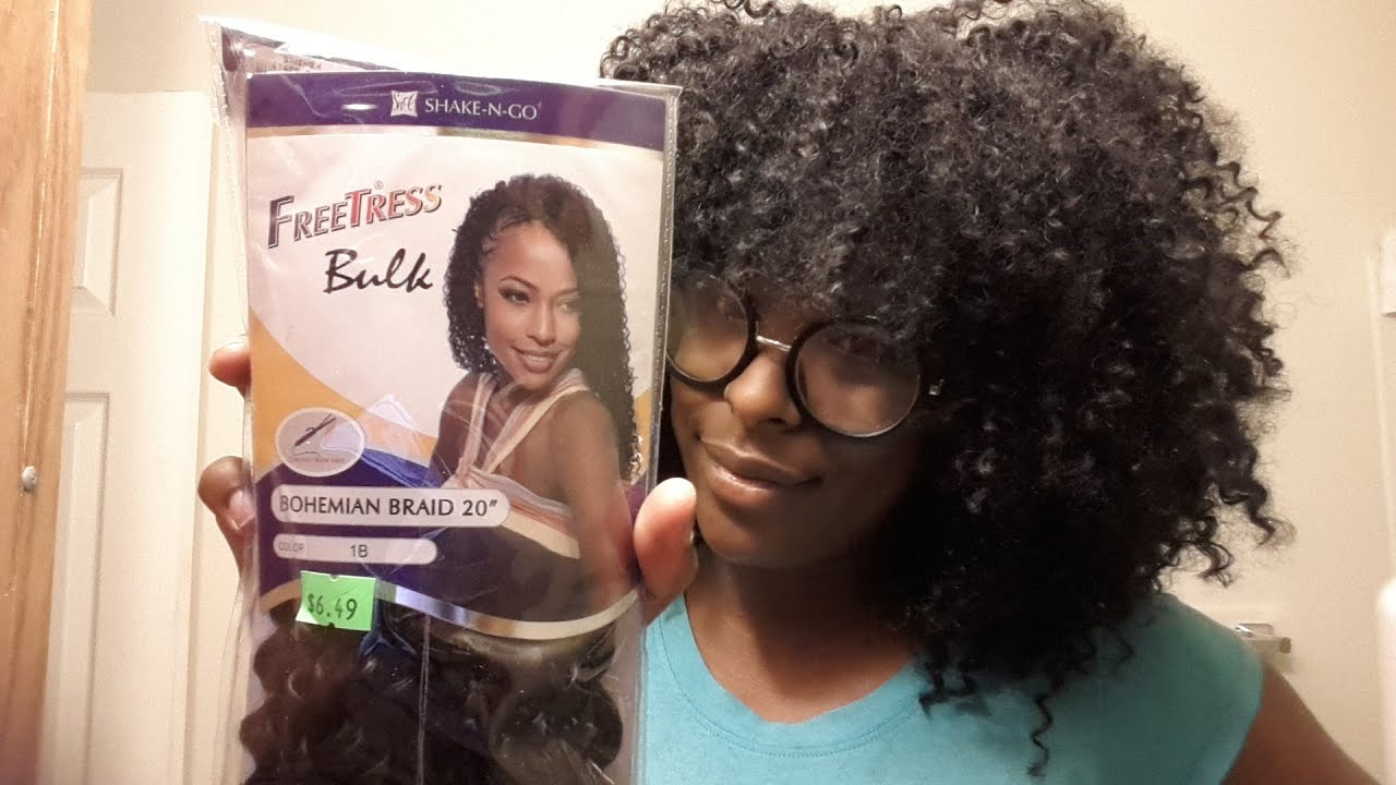 freetress bohemian braid bulk crochet review - YouTube