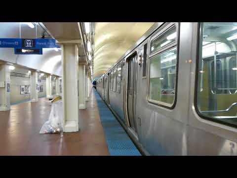 "CTA Transit: 1981 Budd Company 2600 Series ""L"" Blue Line at LaSalle Station (Midnight)"