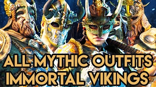 IMMORTAL VIKINGS!! ALL MYTHIC OUTFITS!! For Honor Gameplay - Top Tier Skins For All 4 Vikings