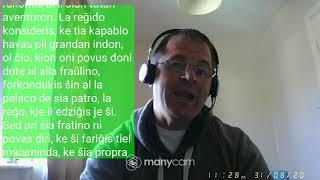 Fundamento De Esperanto Ekzerco 23       doni dote  –  multe kurinte kaj trovinte neniun