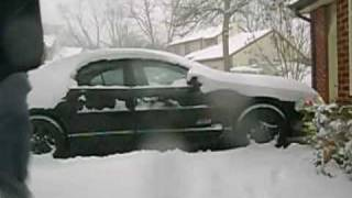 Extreme Subwoofer Snow Removal!