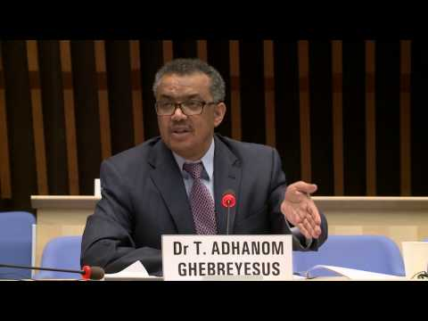 WHO: Dr Tedros Adhanom Ghebreyesus at the Director-General candidates forum