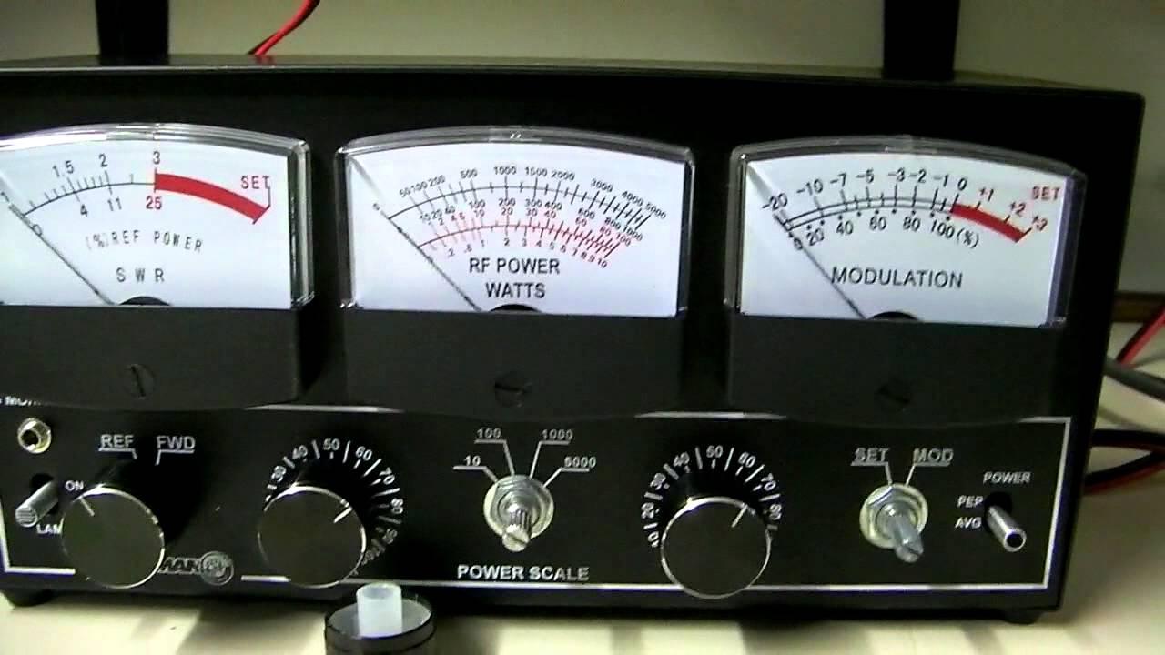 Workman P5000 SWR Watt Modulation Meter Overview