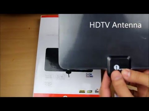 1Byone  Paper Thin HDTV Aerial  for Digital Freeview and Analog TV Signals  Aerial Review & Setup