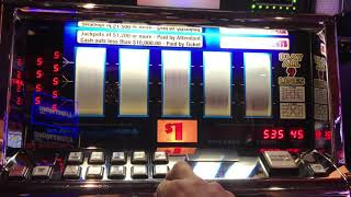 $45 a spin on Double Diamond 9 Line Slot Machine - Triple Diamond Slot with Free Games Bonus