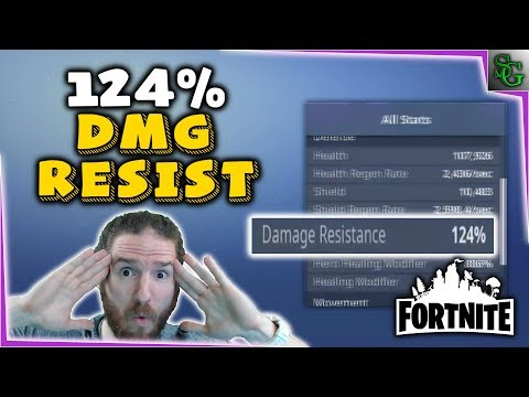 Fortnite - 124% Damage Resistance GOD MODE!?!? - How it Works