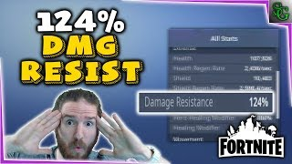 Fortnite - 124% Damage Resistance GOD MODE!?!? - How it Works