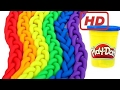 All For Kids| Play Doh Braids Rainbow Modelling Clay Fun and Creative For Kids Learn Colors