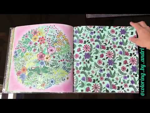 - Adult Coloring Book Review & What I Color With - Secret Garden By Johanna  Basford - YouTube