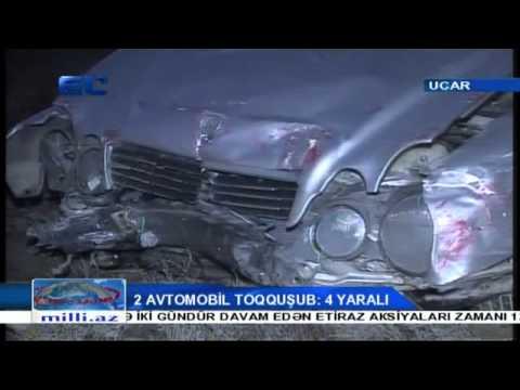 Ucarda iki avtomobil toqquşub, 4 nəfər yaralanıb