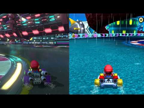 mario kart 8 neo bowser city wii u vs 3ds youtube. Black Bedroom Furniture Sets. Home Design Ideas
