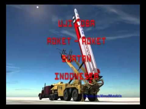 Rocket from indonesian test fire
