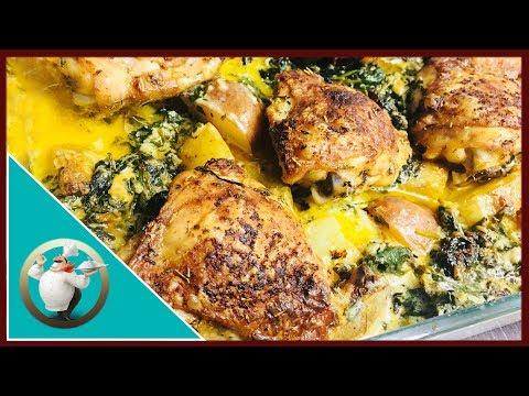 Creamy Garlic Butter Chicken Recipe | Chicken With Creamy Garlic Butter Sauce And Potatoes