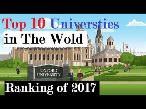 Top 10 Universities in the world 2017. Updated World Universities Ranking 2017
