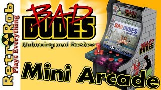 Bad Dudes Mini Arcade Unboxing, Review and Gameplay