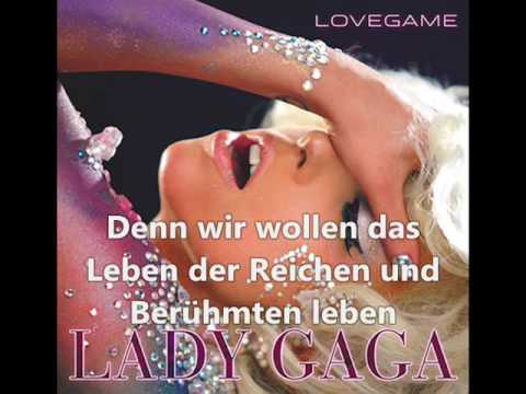 *Lady GaGa* - The Fame (German/Deutsch Translation/Übersetzung) [BEST Quality] + English Lyrics