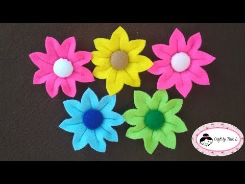 Panas Cara Membuat Bunga Dari Kain Flanel How To Make Flower From Felt Paling Heboh