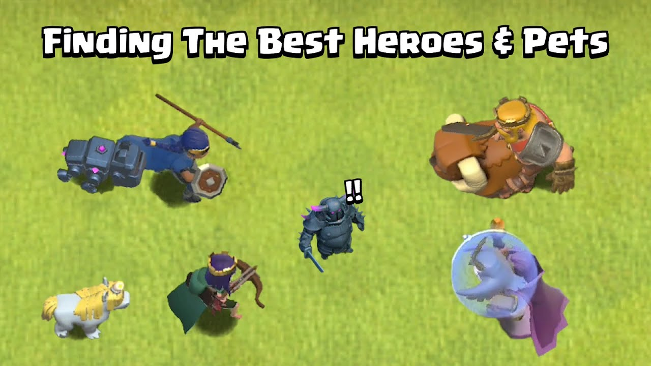 Every Level Heroes & Pets VS  Every Level P.E.K.K.A | Clash of Clans