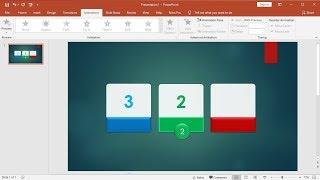 PowerPoint training |How to Make a Slide Show SmartArt Ball Animation Countdown Timer